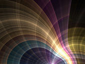 Colorful and vivid curved fractal lines, digital artwork for creative graphic design — Stock Photo