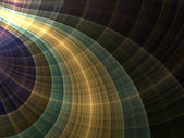 Colorful curved fractal lines, digital artwork for creative graphic design — Stock Photo