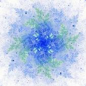Frozen snowflake, Christmas winter theme, digital artwork for creative graphic design — Stock Photo