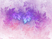 Fractal frost, colorful winter theme, digital artwork for creative graphic design — Stock Photo