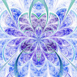 Photo: Light vivid fractal flower, digital artwork for creative graphic design