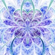 Light vivid fractal flower, digital artwork for creative graphic design — ストック写真 #30328095