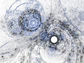 Abstracte fractal sneeuwstorm, digitale kunst voor creatieve grafisch ontwerp — Stockfoto