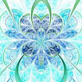 Flor suave fractal, ilustraciones digitales para diseño gráfico creativo — Foto de Stock