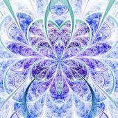 Flor de luz viva fractal, ilustraciones digitales para diseño gráfico creativo — Foto de Stock