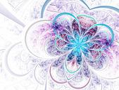 Flor suave colorido fractal, ilustraciones digitales para diseño gráfico creativo — Foto de Stock