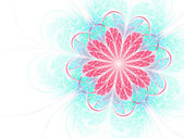 Bright colorful fractal flower, digital artwork for creative graphic design — Stock Photo