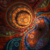 Colorful fractal clockwork, digital artwork for creative graphic design — Stock Photo