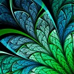 Dark fractal plant, digital artwork for creative graphic design — Stock Photo #32710211
