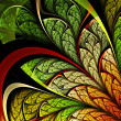 Colorful leafy fractal plant, digital artwork for creative graphic design — Stock Photo