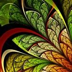 Colorful leafy fractal plant, digital artwork for creative graphic design — Stock Photo #32710235