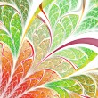 Colorful fractal plant, digital artwork for creative graphic design — Stock Photo