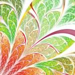 Colorful fractal plant, digital artwork for creative graphic design — Stock Photo #32710365