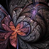 Soft fractal flower or butterfly, digital artwork for creative graphic design — Stock Photo
