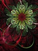 Spring themed fractal flower, digital artwork for creative graphic design — Stock Photo