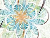 Light fractal flower, digital artwork for creative graphic design — Stock Photo