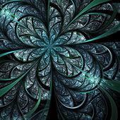 Shiny fractal flower, digital artwork for creative graphic design — Stock Photo