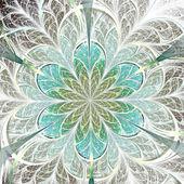 Light blue fractal flower, digital artwork for creative graphic design — Stock fotografie