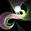 Stock Photo: Colorful fractal swirls, digital artwork for creative graphic design