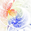 Stock Photo: Glittery fractal butterfly or flower, digital artwork for creative graphic design
