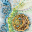 Stock Photo: Colorful fractal clockwork, digital artwork for creative graphic design