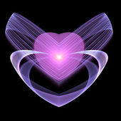 Fractal heart, Valentine theme, digital artwork for creative graphic design — Foto Stock