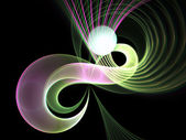 Colorful fractal swirls, digital artwork for creative graphic design — Stock Photo
