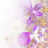 Glossy and shiny fractal flowers, digital artwork for creative graphic design — Стоковое фото