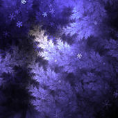Christmas themed fractal tree with snowflakes, digital artwork for creative graphic design — Stok fotoğraf