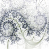 Soft and gentle fractal swirly pattern, digital artwork for creative graphic design — Stock Photo