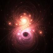 Dark glossy fractal nebula, digital artwork for creative graphic design — Stock Photo