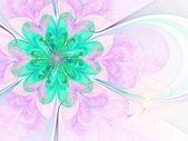 Lehké a měkké fraktální květina, digitální kresba pro kreativní grafický design — Stock fotografie