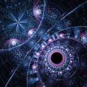 Abstraction of clockwork fractal water, digital artwork for creative graphic design — Stock Photo