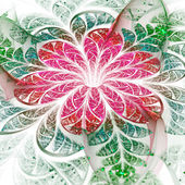 Light pink and green fractal flower, digital artwork for creative graphic design — Стоковое фото