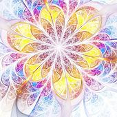 żywe fraktal kolorowy kwiat, cyfrowych dzieł sztuki na kreatywne projektowanie graficzne — Zdjęcie stockowe