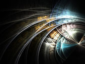 Dark fractal curves, digital artwork for creative graphic design — Stock Photo