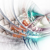 Colorful fractal web, digital artwork for creative graphic design — Стоковое фото