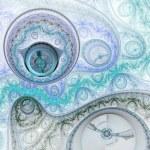 Light fractal watch, digital artwork for creative graphic design — Foto de Stock