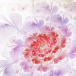 Light red and purple fractal flower, digital artwork for creative graphic design — Stock Photo
