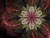 Spring themed fractal flower, digital artwork for creative graphic design — Photo