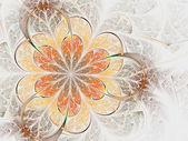 Fiery fractal flower, digital artwork for creative graphic design — Stock Photo