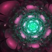 Dark fraktální květina, digitální kresba pro kreativní grafický design — Stock fotografie
