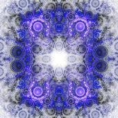 Blauer quadratischer fractal ziegel, digital artwork für kreative grafik-design — Stockfoto