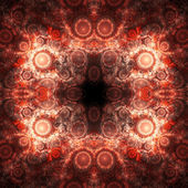 Red fractal tile pattern, digital artwork for creative graphic design — Stock Photo