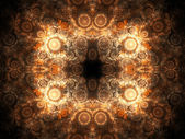 Gold fractal pattern, digital artwork for creative graphic design — Stock Photo
