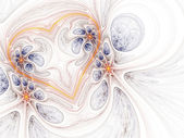 Light shiny fractal heart, digital artwork for creative graphic design — Zdjęcie stockowe