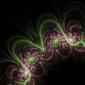 Dark detailed fractal spirals, digital artwork for creative graphic design — Stock Photo