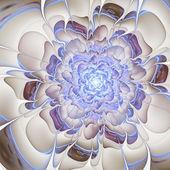 Licht blauer Fractal Blume, digital Artwork für kreative Grafik-design — Stockfoto