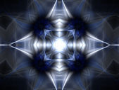 Shining fractal cross, digital artwork for creative graphic design — Photo