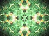 Nature themed fractal mandala, digital artwork for creative graphic design — Zdjęcie stockowe